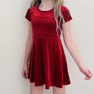 Red Velvet Stretchy Holiday Dress